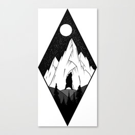 Mountains Ink Canvas Print