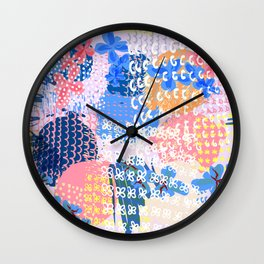 Trendy abstract fashion pattern in spotty shabby design Wall Clock