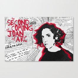 """Joan"" poster Canvas Print"