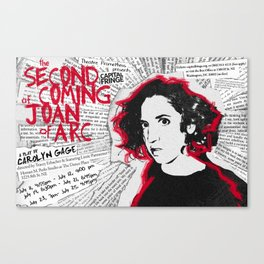 """Joan"" poster Canvas Print"