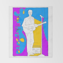 David Byrne in Stop Making Sense by Aaron Bir Throw Blanket