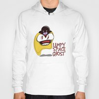 lumpy space princess Hoodies featuring Lumpy Space Ghost by The Geekerie