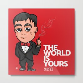 Scarface The World Is Yours Metal Print