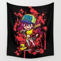 gangster Wall Tapestries featuring DIZILLAGU(Gangster girl) by HOOKEEAK