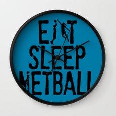 Eat Sleep Netball Wall Clock