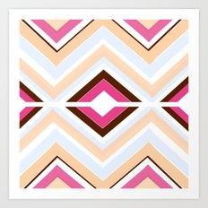 Mod stripes in raspberry Art Print