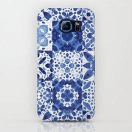 Indigo Watercolor Tiles iPhone Case