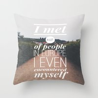 europe Throw Pillows featuring EUROPE by REASONandRHYME