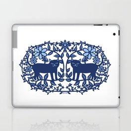 Scandinavian Cat blue Laptop & iPad Skin