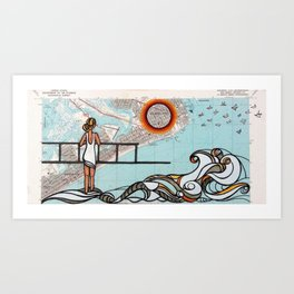 Atlantic City - Mid Century Sun Art Print