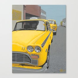 Taxi Stand Canvas Print
