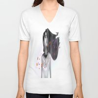 pocahontas V-neck T-shirts featuring Pocahontas by Ricky_Disneyart