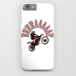 Brrraaaaap Red Checkered Flag Moto Language iPhone Case