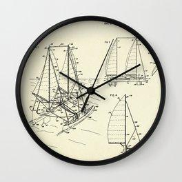 Outrigger Sailboat-1977 Wall Clock