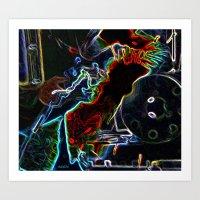 Arced Neon Art Print