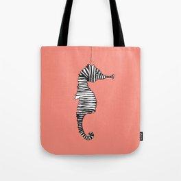 Suspended Seahorse Coral Tote Bag