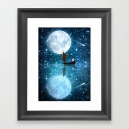 The Moon and Me v2 Framed Art Print