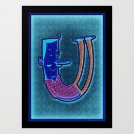 illustrated U Art Print