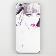 Fashion illustration in watercolors and ink iPhone & iPod Skin