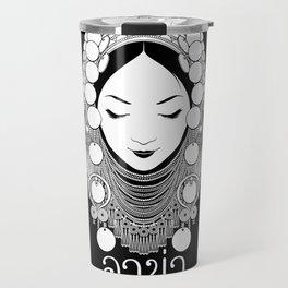 Akha Hilltribe Lady / Black Travel Mug
