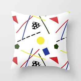 Postmodern Scavenger Hunt Throw Pillow