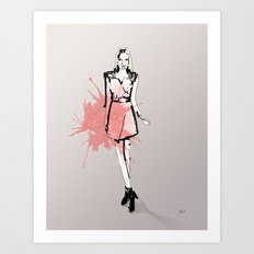 Coral Fashion Art Print