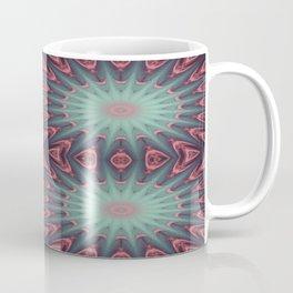 Mauve & teal starburst Mandala Coffee Mug