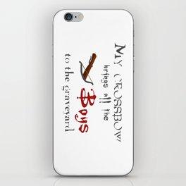 Buffy's Crossbow iPhone Skin