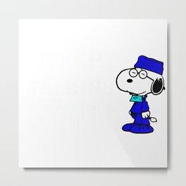 Doctor Snoopy Metal Print
