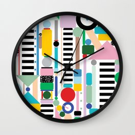 Postmodern Cityscape Wall Clock