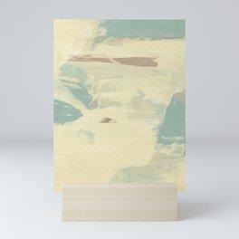 Blue & Cream Monoprint Mini Art Print
