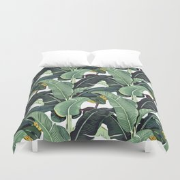 banana leaf pattern Duvet Cover