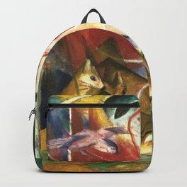 """Franz Marc """"Deer in the Forest I"""" Backpack"""