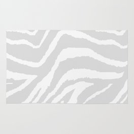ZEBRA GRAY AND WHITE ANIMAL PRINT Rug