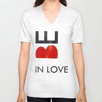 onesie V-neck T-shirts featuring BE IN LOVE by Lulla