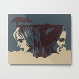 Buffy & Faith Metal Print