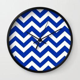International Klein Blue - blue color -  Zigzag Chevron Pattern Wall Clock