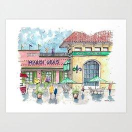 Mardi Gras N'Awlins Art Print