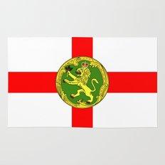 Alderney flag Rug