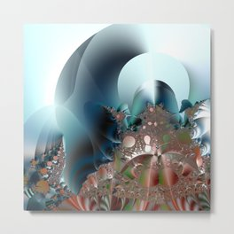Shimmer on top of the fantasy mountain Metal Print