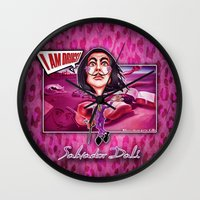 salvador dali Wall Clocks featuring Salvador Dali! by Emanpris Artcore
