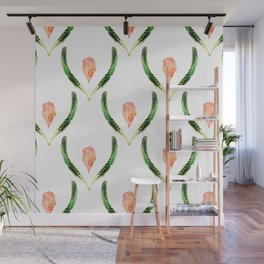 Heliconia Blossom White  #tropical Wall Mural