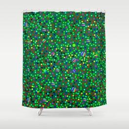 Colorful Rain 08 Shower Curtain