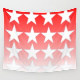 Red and White Stars, Faded Stars, Patriotic Wall Tapestry