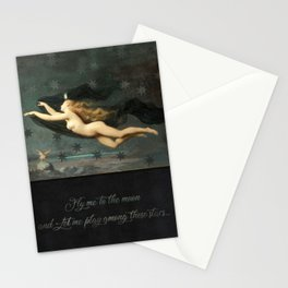 """""""Fly me to the moon"""" Stationery Cards"""
