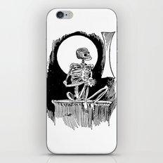Skeleton waiting iPhone & iPod Skin
