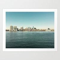 philadelphia Art Prints featuring Philadelphia  by redcoatstudiocolor