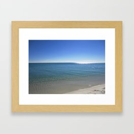 Sunny Day at the Big Water Framed Art Print