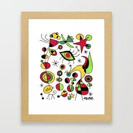 Joan Miro Peces De Colores (Colorful Fish ) Artwork for Posters Tshirts Prints Men Women Kids Framed Art Print