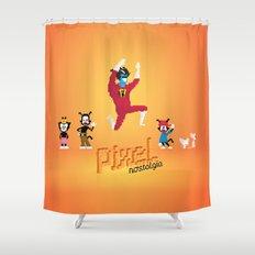 WB Pixel Nostalgia Shower Curtain